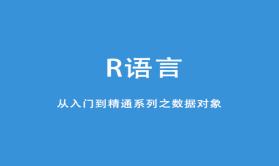 R语言从入门到精通系列之数据对象视频课程