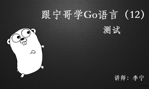 跟宁哥学Go语言视频课程(12):测试