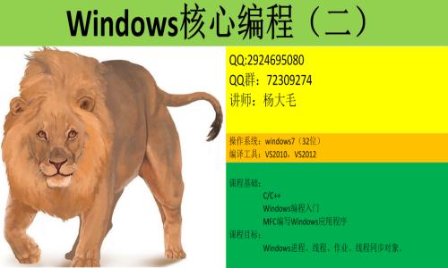 Windows核心编程视频课程(第二部分)
