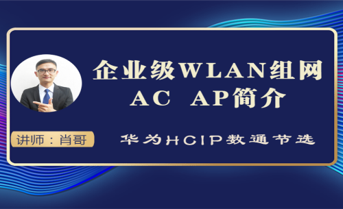 企业级WLAN组网 AC AP简介视频课程[肖哥]