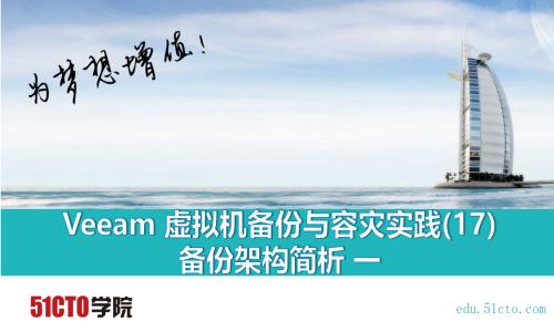 Veeam 虚拟机备份与容灾实践(17) 备份架构简析 一